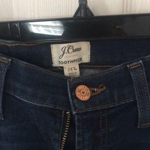 J Crew Toothpick Jeans.